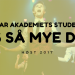 Studenter Bårdar Akademiet: Høst 2017 / Vår 2018